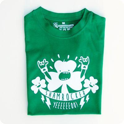 irish shamrocker kids t-shirt. get ready for st patrick's day! by teeandtoast.com