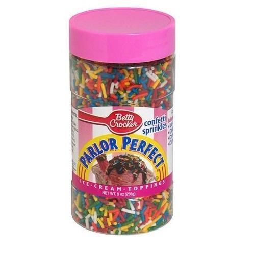 Betty Crocker Parlor Perfect Confetti Sprinkles Ice Cream Toppings (12x9 OZ) G240-ECV901918
