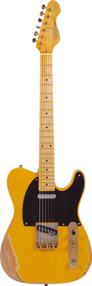 Vintage Guitars V52 Reissue Electric Guitar - Butterscotch. Electric Guitar. Made by Vintage Guitars. It's true to say that the best guitars are built from the inside out, and Vintage enjoys a well-earned reputation for building great guitars. Now, the superb line-up of exciting Vintage electric guitars just got even better. Working with acknowledged guitar industry guru Trevor Wilkinson, Vintage has now introduced a fantastic new line-up of Wilkinson-equipped Vintage electrics and...