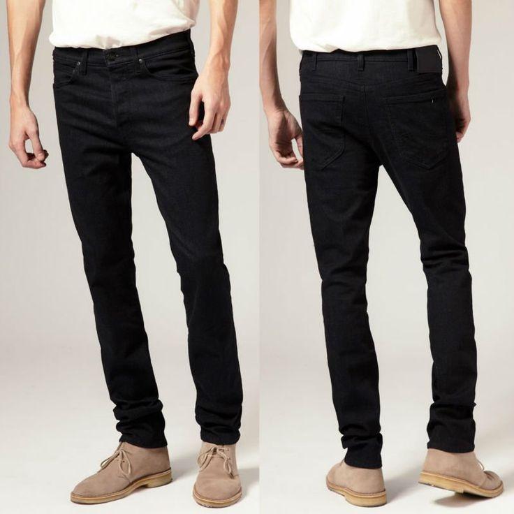 jegger skinny jeans para hombres pantalones vaqueros de diseño en negro--Identificación del producto:636624091-spanish.alibaba.com