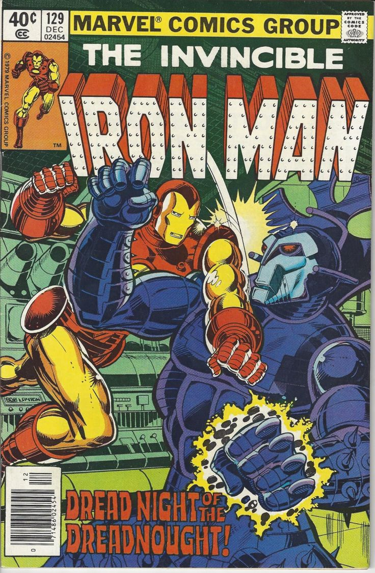 Vintage Marvel The Invincible Iron Man Dec 1979 Comic Book #129 Versus Dreadnought by FloridaFindersPaper on Etsy