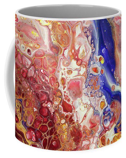 Gems Of East. Fluid Acrylic Abstract Coffee Mug by Jenny Rainbow.  Small (11 oz.)