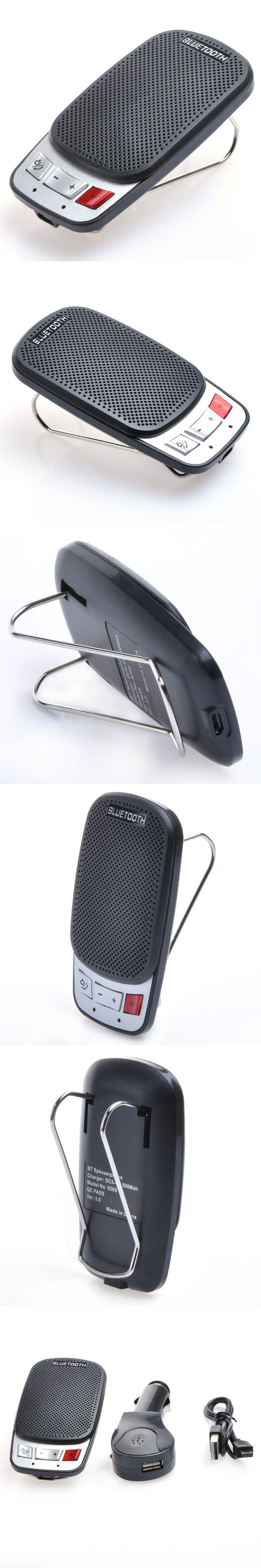 2016 Wireless Car Bluetooth Speakerphone Hands Free Car Kit Speakerphone For iPhone Smartphones Manos Libres Bluetooth Car 920BK