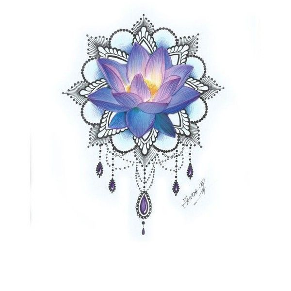 Lotus Flower Tattoos ❤ liked on Polyvore featuring accessories and body art