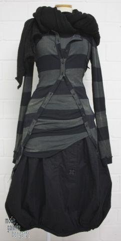 """www.modegalerie-bongardt.de - roundwood fashion, roundwood Black Label, Black Label winter dip Roundwood Roundwood 2016 Ringel-Longshirt """"100% cotton"""" ... 2 different colors! 3820501-W16"""