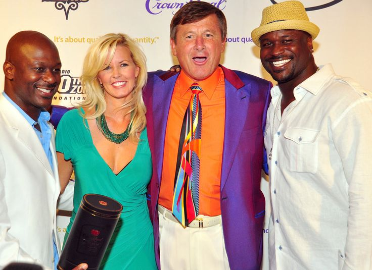 Craig Sager and his wife Stacy pose with Doug and Ryan Stewart at the Stewpendous Awards post-party on July 11, 2009 at the W Hotel in Atlanta. Prince Williams/Getty Images