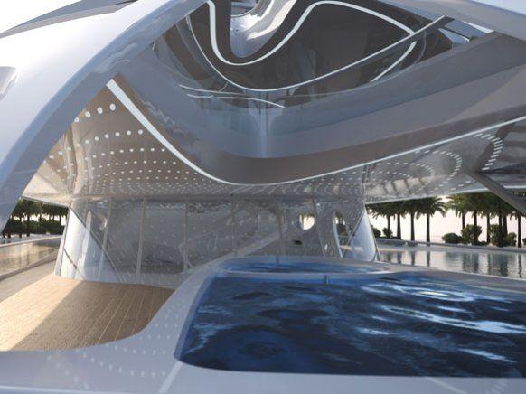 Futuristische luxusyachten  Die organisch-futuristische Struktur der Schiffe ermöglichen es ...