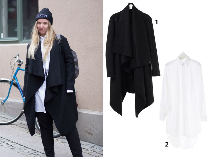 Get the look from Anothamista! 1. White Long Shirt available at http://shop.anothamista.com/product/boxy-long-shirt 2. Unbalanced Long Coat available at http://shop.anothamista.com/product/unbalanced-long-coat #fashion #womenswear #streetstyle #lookbook #Gothenburg #Anothamista