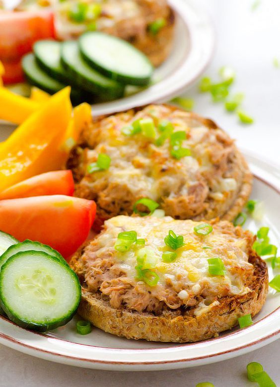 Clean Eating Tuna Melt - 15 minute dinner or lunch recipe. Perfect for busy weeknights. | ifoodreal.com