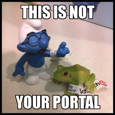 Ingress meme collection - smurf lecturing frog! Ask me for more ^_^ Picture by…