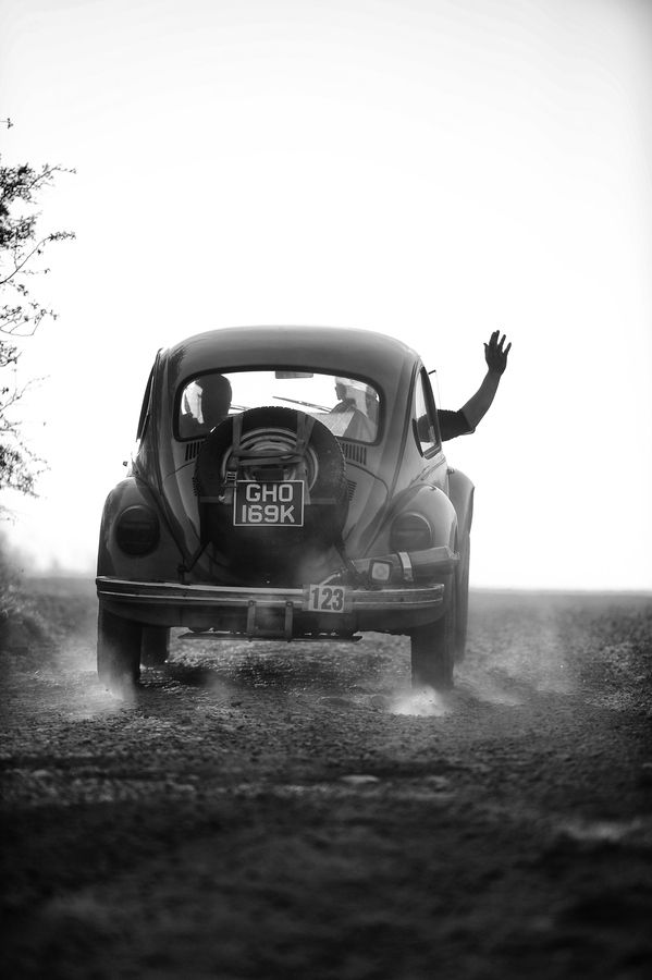 Old VW Beetle Starts a long journey