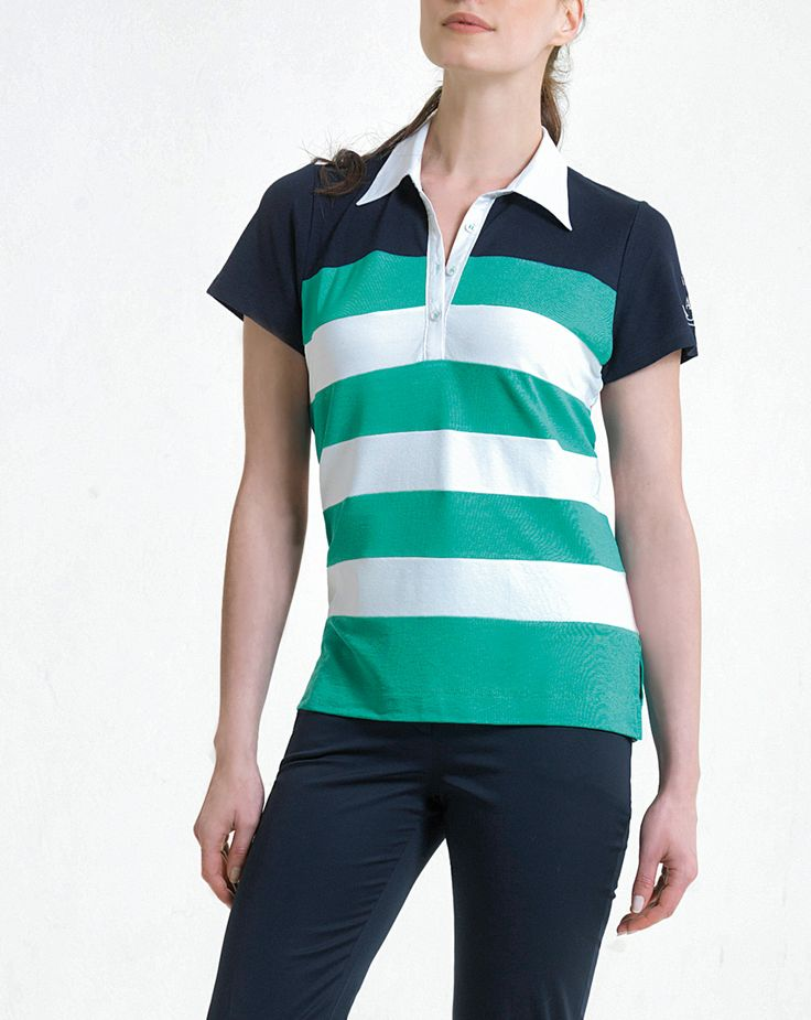 tricolor polo for casual look