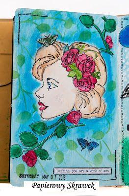 Papierowy Skrawek: Art journal- wyzwanie 4