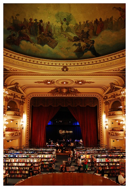 "libreria ""el ateneo"", buenos aires, argentina ~~voted as the second most beautiful Bookshop in the world"