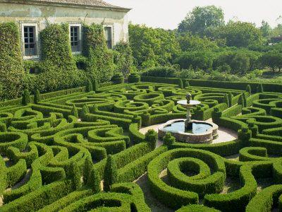 Garden Maze, Portugal, Europe Photographic Print