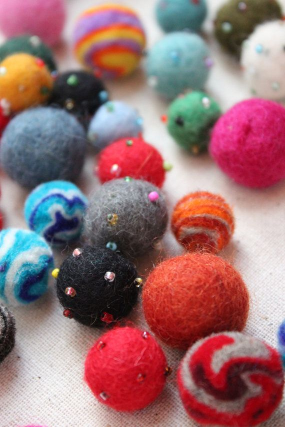 Felted Wool Balls - Bag of 10, Pair with our Reusable Gift Wrap $3
