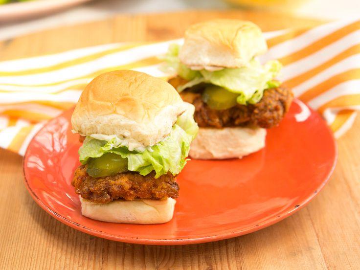Nashville-Style Hot Chicken Sandwich recipe from Jeff Mauro via Food Network