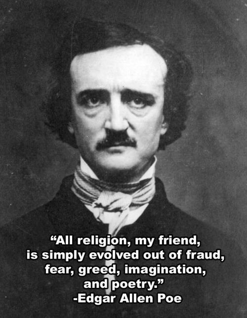 Poe's religion. some of the best words he had ever spoken.