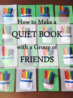 Great way to get lots of quiet book pages without having to make them all yourself!