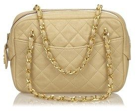 Chanel Pre-owned: Quilted Leather Chain Handbag.