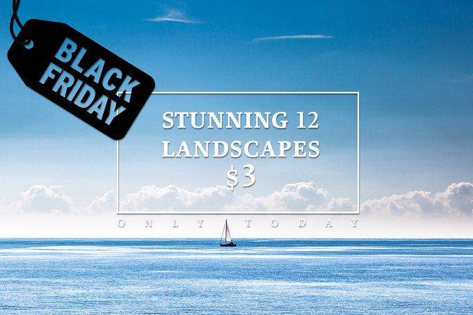 Stunning Landscapes Black Friday by Feelings on @creativemarket