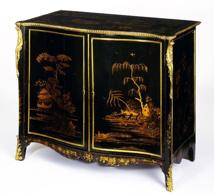 Chinoiserie   Cabinet   Unknown Maker 1760 1765. Pine And Oak Carcass,  Japanned