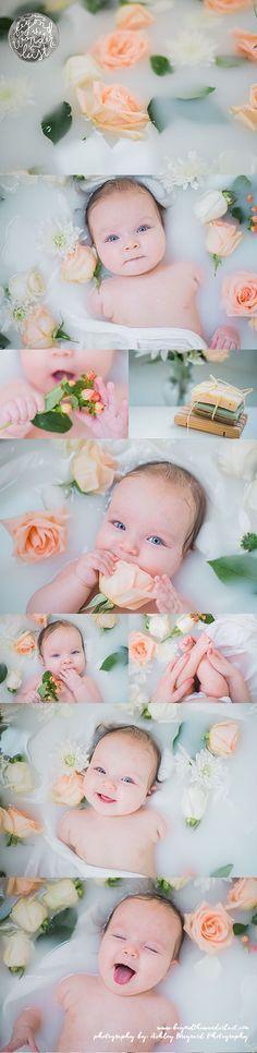 "We've been featured on ""Beyond the Wanderlust"" ! Teagan Elizabeth loved her floral cream & peach baby milk bath!"