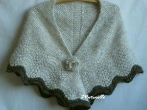 Multnomah #handspun #chiengora #shawl #knitting