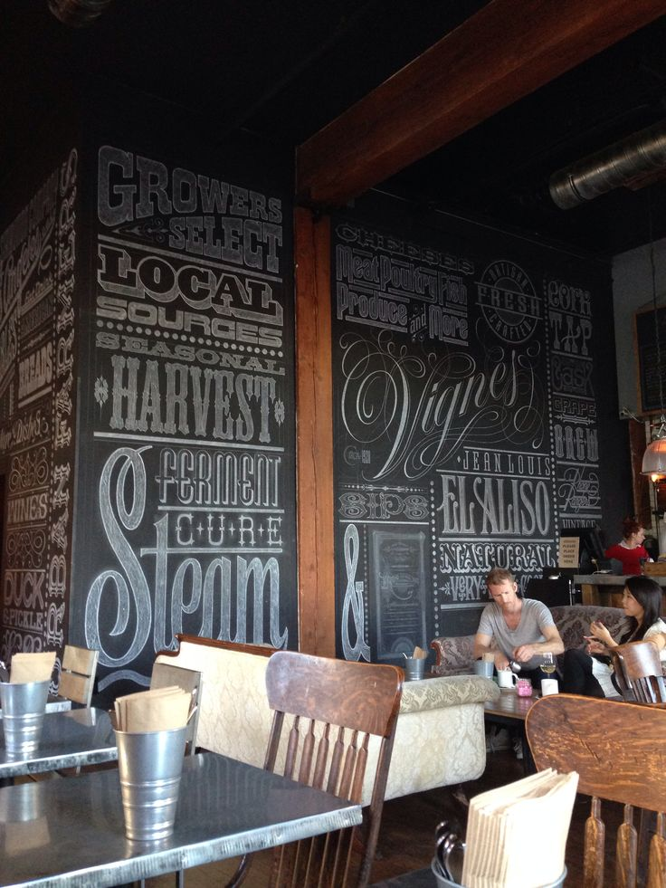 Americano restaurant design- Los Angeles. Typography wall that could be used in the space perhaps to be seen from the arcade of standard house