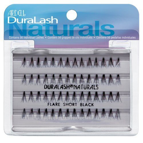 Ardell Adrell Duralash Naturals, Flare Short Black, 1 Pair (Pack of 3) by Ardell. $8.95. Flared and knot-free. Individual, natural looking lashes. Contains 56 individual lashes. Flared, knot-free, individual natural looking lashes.  Contains 56 individual lashes.