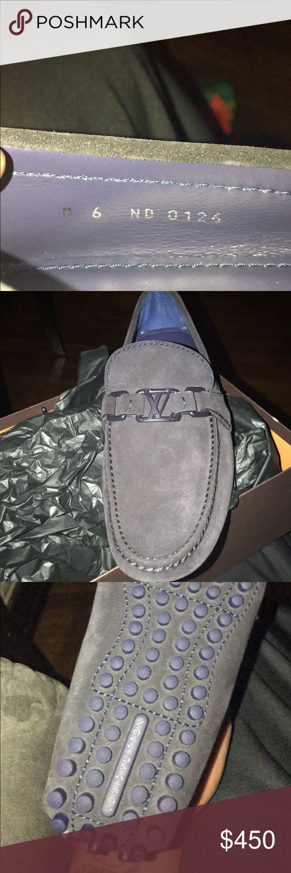 Louis Vuitton loafer LouisVuitton car shoe brand new as is storage box LV size 6 is a USA size 7 Louis Vuitton Shoes Loafers & Slip-Ons
