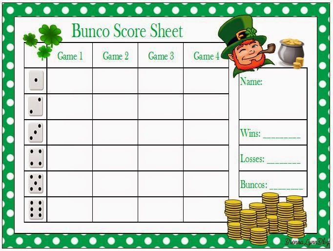 The 25 Best Bunco Score Sheets Ideas On Pinterest Bunco