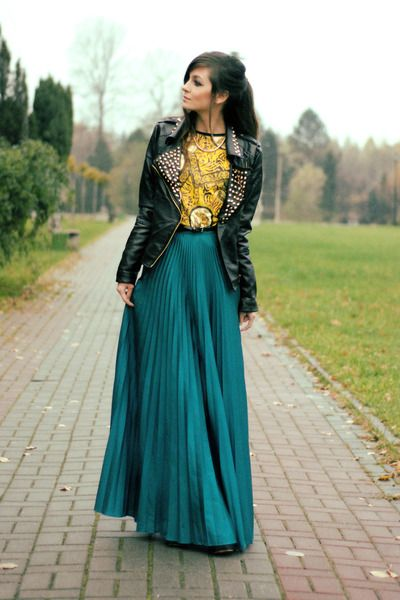 Pinterest'teki 25'den fazla en iyi Green Maxi Skirts fikri