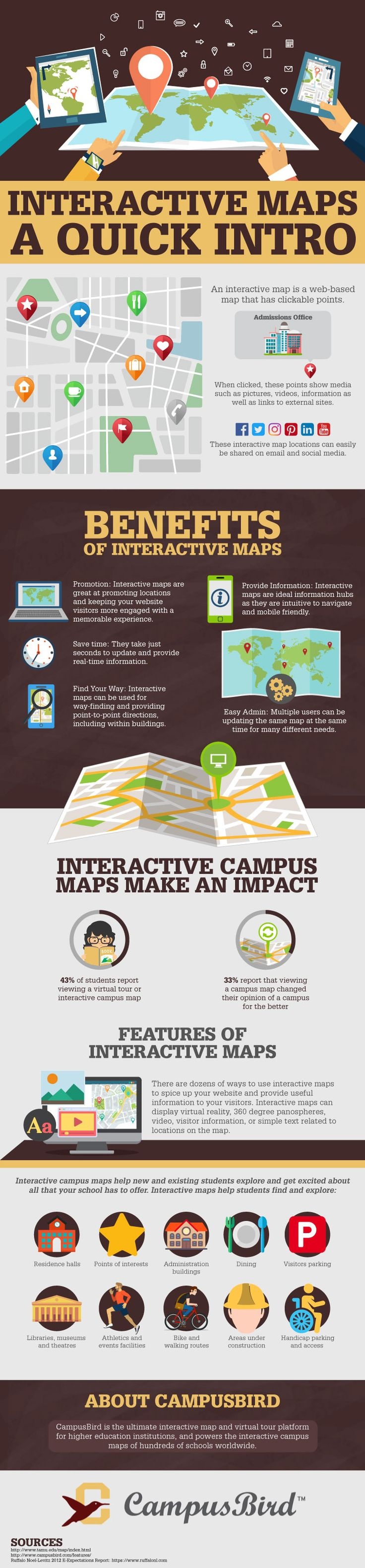 New to interactive maps? Check out this infographic highlighting interactive map benefits and discussing ways digital maps can benefit your college campus.