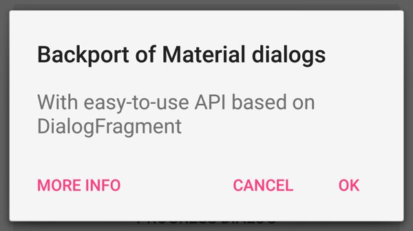 Styled Dialogs for Android