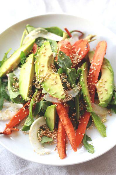 Roasted Carrot, Avocado & Toasted Quinoa Salad B2a608bfe9898539b0f004f7749780e1