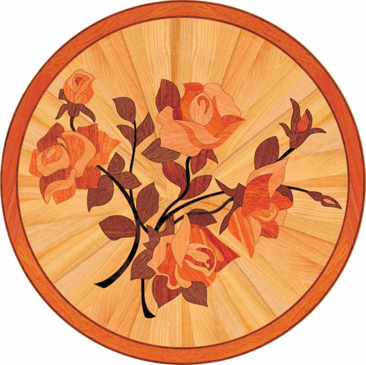 Details description and price for p26b in wood medallions for Wood floor medallions inlay designs