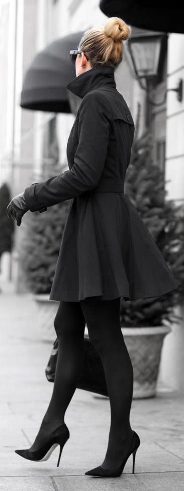 j-bomb says: because black is always in style, those heels are perfect, & the cut of that coat is both sophisticated & girly.