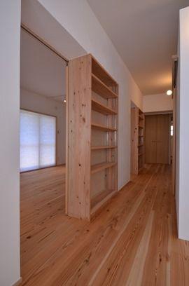 本棚と引き戸を組み合わせた間仕切り 完成写真でみる設計のポイント | 木のマンションリフォーム・リノベーション-マスタープラン一級建築士事務所