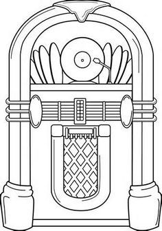 coloring pages old schoolhouse | template of a jukebox - Verizon Yahoo Search Yahoo Image ...