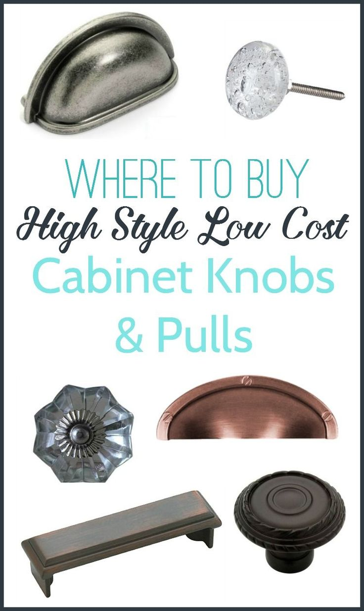 Where to buy inexpensive cabinet knobs and pulls. Love these stylish hardware options for as little as a dollar each.