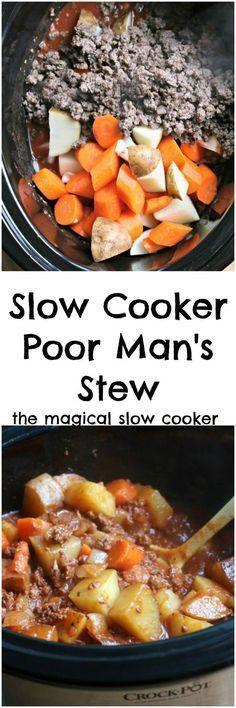 Slow Cooker Poor Man's Stew