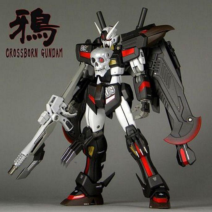 HGBF 1/144 Crossbone Gundam Crow - Custom Build     Modeled by roketwo