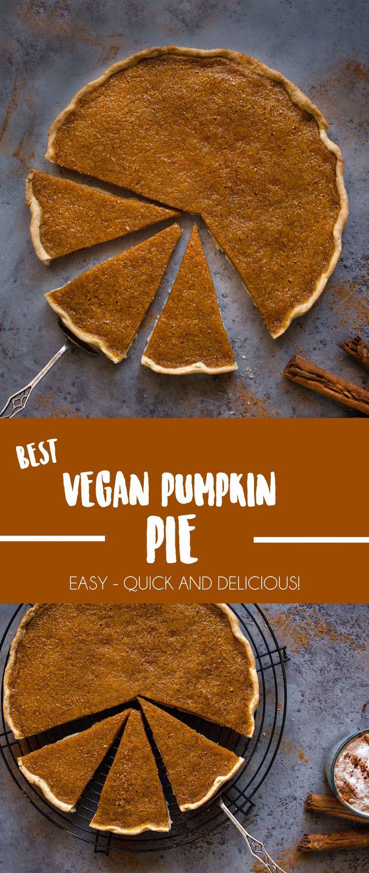 Der einfachste vegane Kürbiskuchen, den Sie jemals gemacht haben