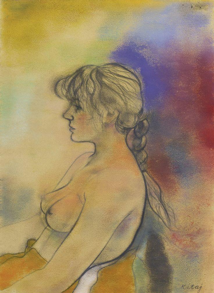 thunderstruck9: R. B. Kitaj (American, 1932-2007), Miranda (Face Left), 1980. Pastel and charcoal, 78 x 57 cm.