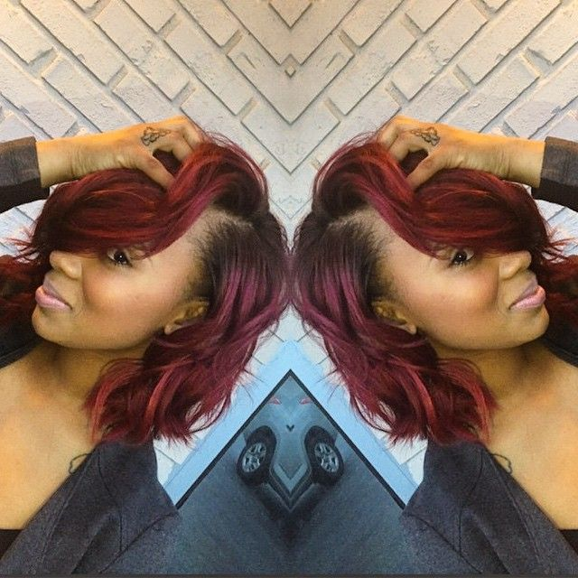STYLIST FEATURE| Love this #messybob done by #AtlantaStylist @takiyahsmith! This color is hot! Visit VoiceOfHair.com for more #hairspiration!