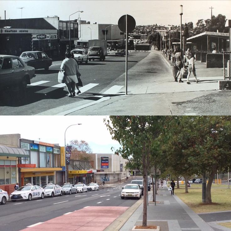 North Terrace looking east towards Appian Way, Bankstown 1970 > 2016. [Bankstown Library & Knowledge Centre > Rayy Bk. By Rayy Bk]