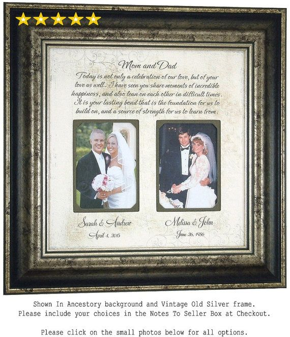 Wedding Gift For Parents Parents Thank You by PhotoFrameOriginals