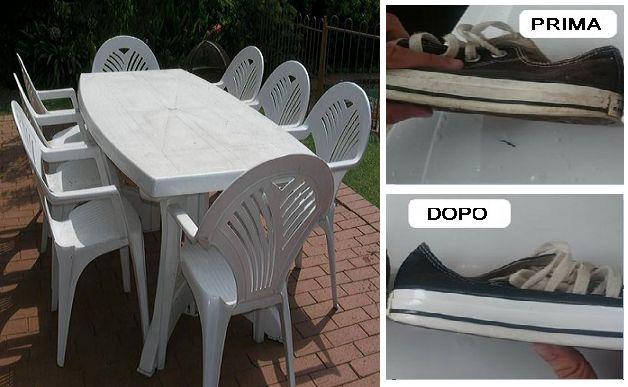 Sbiancare sedie e tavoli sporchi
