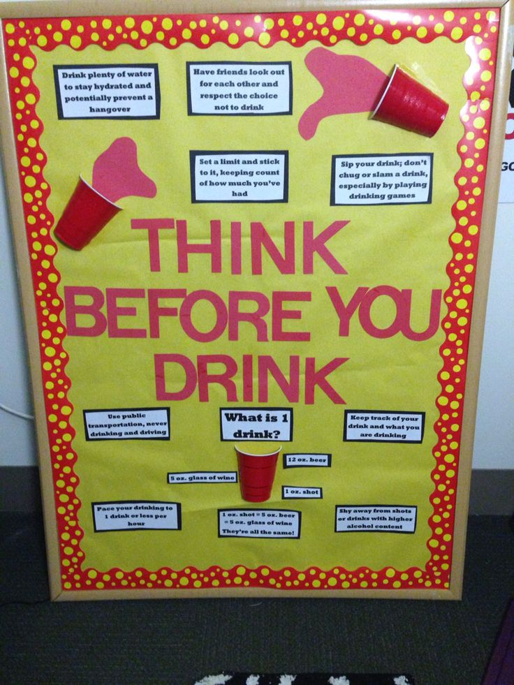 Think Before You Drink RA LCA Bulletin Board Alcohol Awareness Physical Wellness